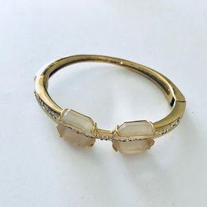 Alexis Bittar Hinge Bracelet w Swarovski Crystals